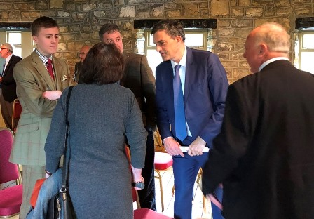 Julian Smith meeting members of the Association at a coffee morning