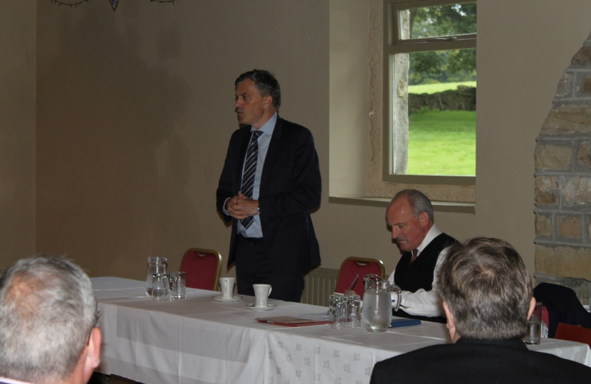 Julian Smith MP and Nick Bannister, Chairman to Skipton and Ripon Conservative Association