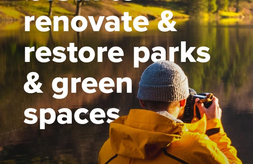 £13 Million to renovate and restore parks and green spaces