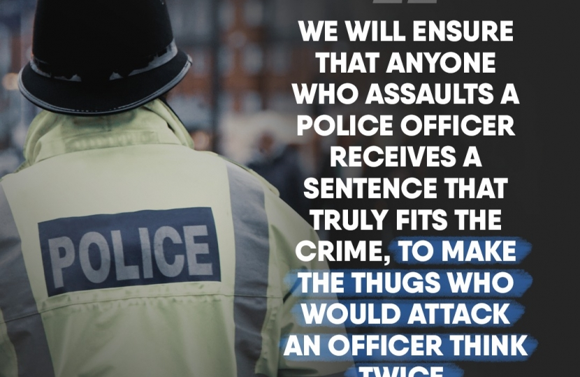 Think twice! Assaulting a Police Officer will come with a sentence that fits the crime